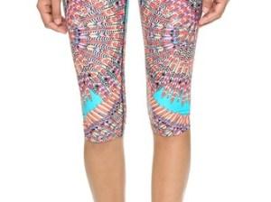 Mara Hoffman Cropped Leggings in Skybird Turquoise. Shopbop