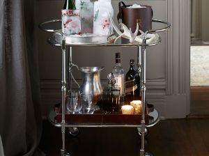 BROOKE BAR CART in Silver bar carts pottery barn