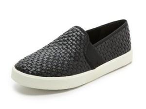 Vince Preston Slip On Sneakers in Black