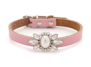 FIERCE Coco Collar in Pink with Crystal Plate