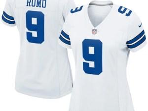 Nike Tony Romo Dallas Cowboys Women's White Game Jersey