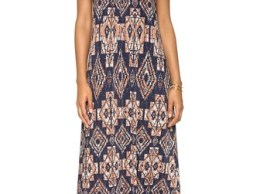 Tbags Los Angeles Tribal Print Maxi Dress