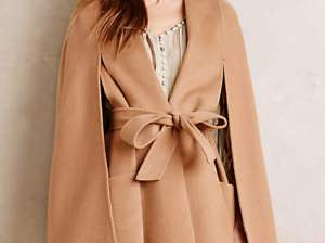 Geneve Wool Capelet by Line in Nude. Anthropologie