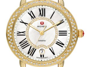 MICHELE Gold Serein 16 Diamond Watch Head. Neiman Marcus