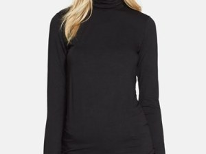 Majestic Fitted Turtleneck in Black