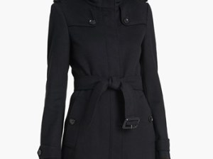 Burberry London 'Basingstoke' Wool & Cashmere Coat Black Nordstrom