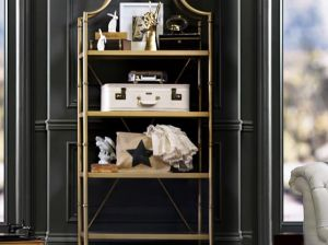 Pottery Barn Teen Maison Bookcase in Gold