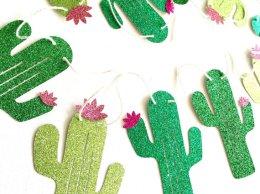 Glitter Cactus Banner - Fiesta Banner CloverandBloomCo