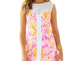 Lilly Pulitzer Sofia Lace Shift Dress Kir Royal Pink Ooh La La Lilly Pulitzer Mother Daughter Matching Dresses