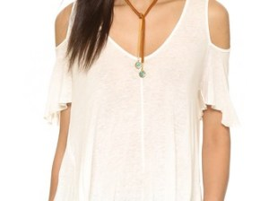 Free People Bittersweet Cold Shoulder Tee Shopbop memorial day weekend sales