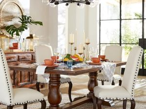 Pottery Barn BOWRY RECLAIMED WOOD FIXED DINING TABLE Eco-Friendly