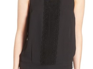 Chelsea28 'Victoriana' Lace Detail Tank Black Nordstrom anniversary sale women's shirts tops