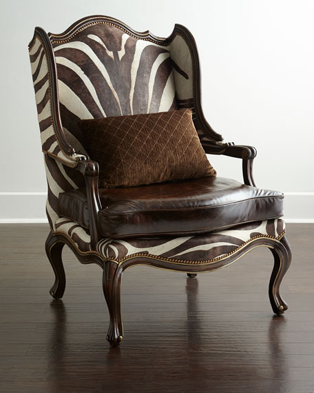 massoud zena zebra print chair brown tan zebra horchow 4th of july