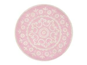 Pottery Barn Kids McKenna Round Rug Pink