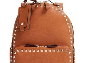 Valentino 'Medium Rockstud' Backpack Light Cuir luxury designer backpacks back to school high school college students