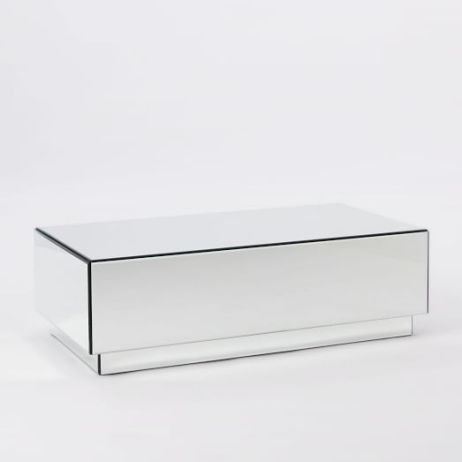 Mirrored coffee tables to glam up your living room candace rose Geo glass coffee table