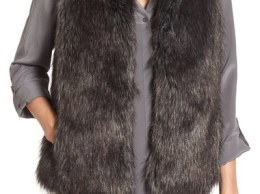 BB Dakota 'Colton' Faux Fur Vest Black faux fur vests fall 2016