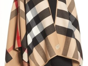 Burberry Reversible Merino Wool Cape Camel capes winter