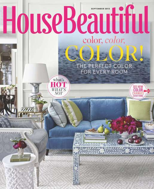 HBX090112 000 833x1024 Images: House Beautiful Magazine Publishes Americans #1 Hue! Did Your Favorite Color Make the Cut?