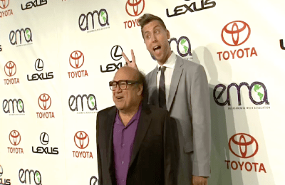 DANNY DEVITO LANCE BASS  Images + Video: Jessica Alba, Ian Somerhalder, Malin Ackerman, Emily VanCamp, and Countless Celebs Attend the EMA Awards!
