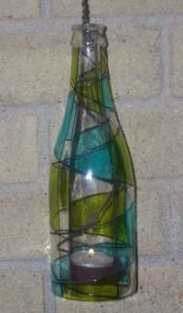 hanging bottle candle holder