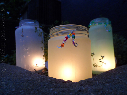 Beaded Frost Luminaries