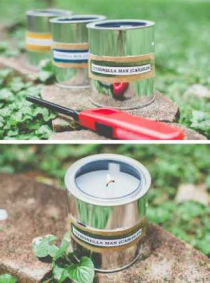 Citronella Paint Can Candles for Dad
