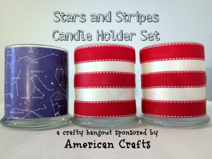 Stars and Stripes Candle Holders