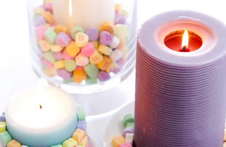Valentine's Day Quickie – Conversation Heart Candles