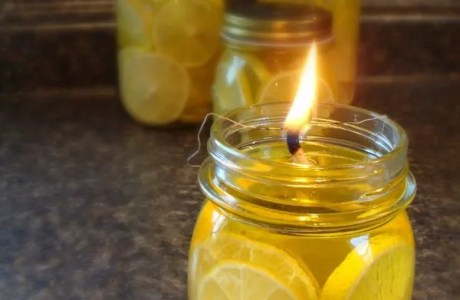 Olive Oil And Lemon Oil Lamp