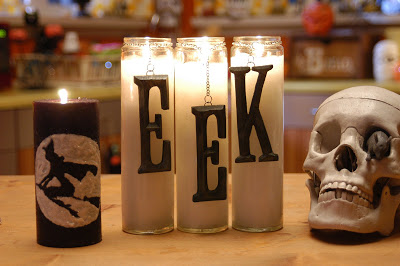 Halloween Candle Display