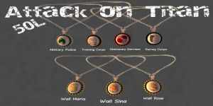 Attack On Titans Pendants
