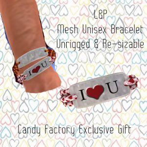 L&P Mesh I Heart U Bracelet Gift