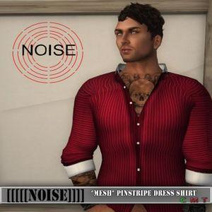 [[[[NOISE]]]] Pinstriped Dress Shirt
