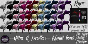 --[Pins & Needles]-- Kawaii bows