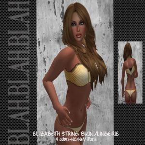 blah.BLAH.blah Elizabeth String Bikini_Lingerie