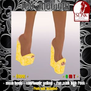 {CoMo} Sunflower Yellow - Mesh SLink Heels