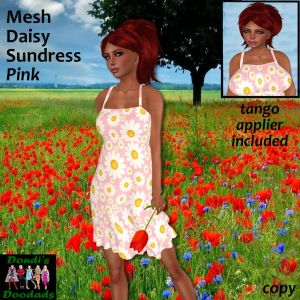 DD Mesh Daisy Sundress Pink