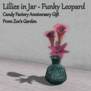 Lillies in Jar - Funky Leopard CF Gift