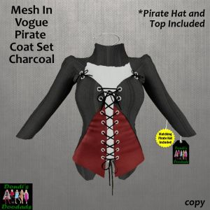 DD Mesh In Vogue Pirate Coat Set on a Background