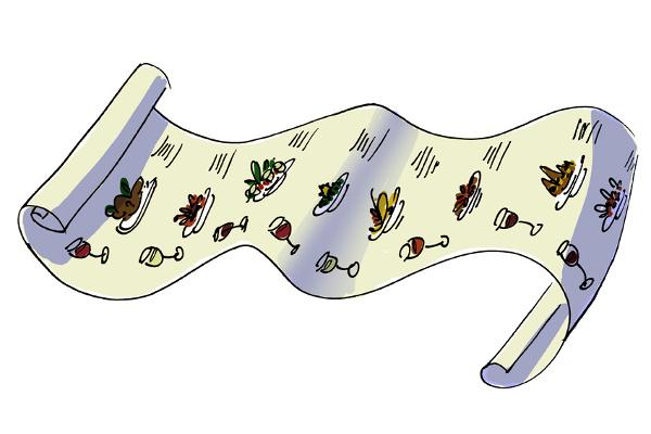 Various items on Alancha's amazing tasting menu