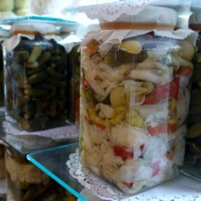 Jar of pickles at Asri Tursucu