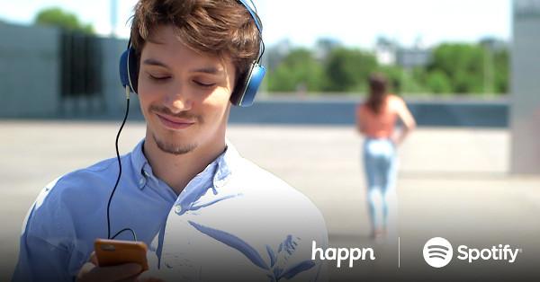 happn istanbul: Bir insanı dış görünüşüyle değil dinlediği müzikle tanırım diyenler için Spotify bağlantısı mevcut