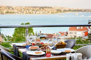 View of Ali Ocakbaşı's Gümüşsuyu terrace