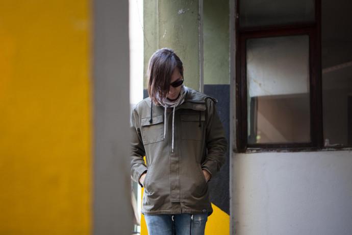 in hoodies