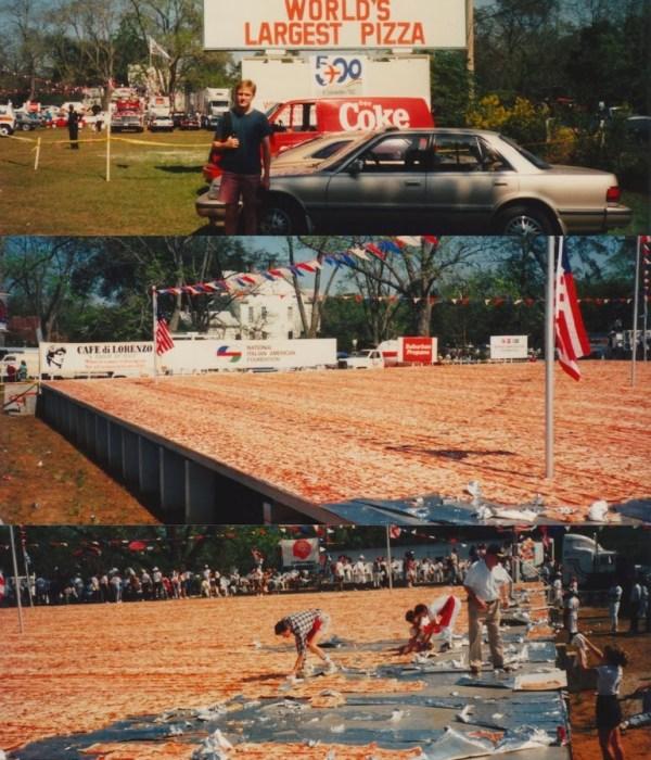 CIBASS Pizza Dos Pizza gigante en Havana, Florida - Octubre de 1991