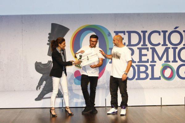 CIBASS recogida del premio al mejor blog de cultura y tendencias