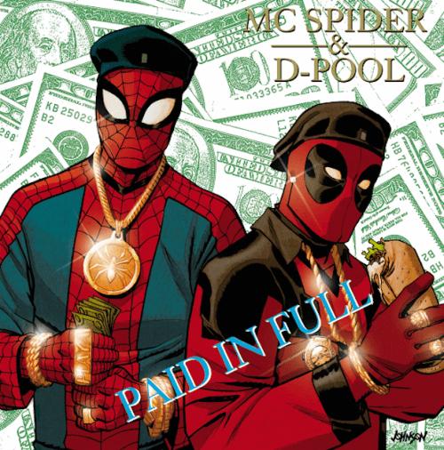 Spiderman y Masacre as Eric B. and Rakim