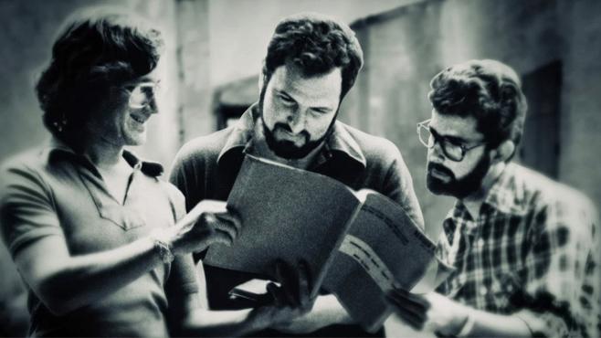 CIBASS John Milius con George Lucas y Steven Spielberg