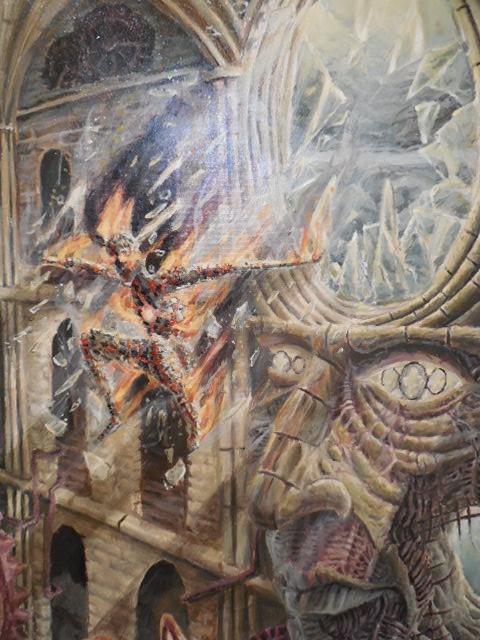 "Noah Astrup, ""Id and Ego,"" acrylic on canvas"